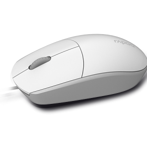 Rapoo N100 Wired Optical Mouse with 1600DPI –  White