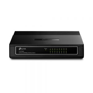 TP-Link TL-SF1016D 16-Port Fast Ethernet Unmanaged Switch Plug and Play Desktop Original