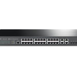 TP-LINK T2500-28TC Jetstream 24-Port 10/100Mbps + 4-Port Gigabit L2 Managed Switch